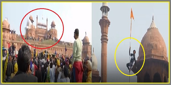 Breaking News - Protesting Farmers Enter Red Fort In Delhi, Scale Walls And Hoist Their Flag